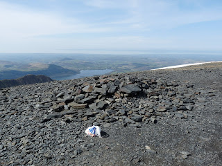 The Tesco bag (which we took away) on the South Skiddaw Top (Bassenthwaite in the distance)