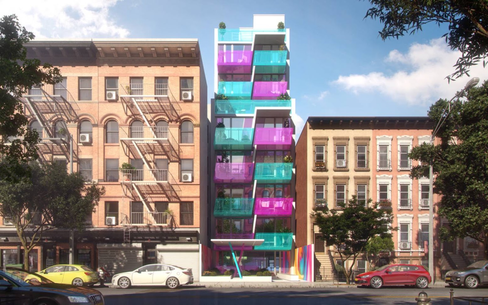 Pleasant Avenue, New York, Stati Uniti: [329 PLEASANT AVENUE BY KARIM RASHID]