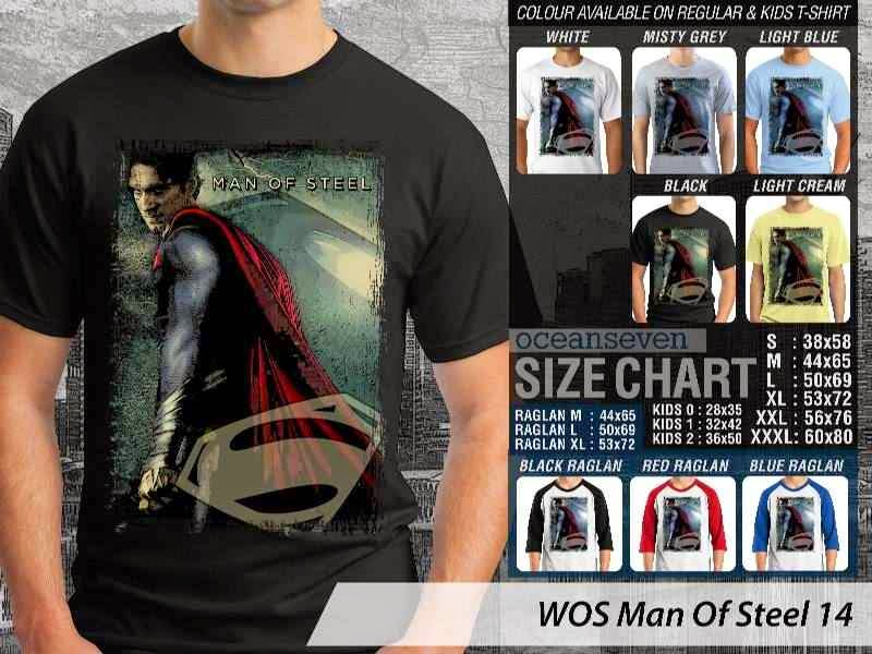 Kaos Superman Hitam Man Of Steel 59 Movie Series distro ocean seven