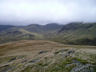 Looking to Esk Pike from Hard Knott