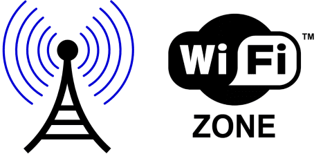 Ilustrasi zona wifi hotspot