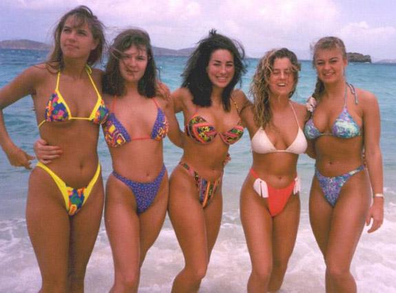 Are bikinis from the 80 s videos confirm. happens