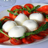 Fresh Mozzarella, Tomatoes, and Basil - Pontone, Italy