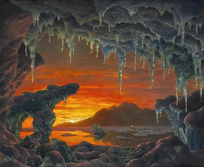 Ivan Fedorovich Choultsé - Maquette pour un Décor Grotte Arctique