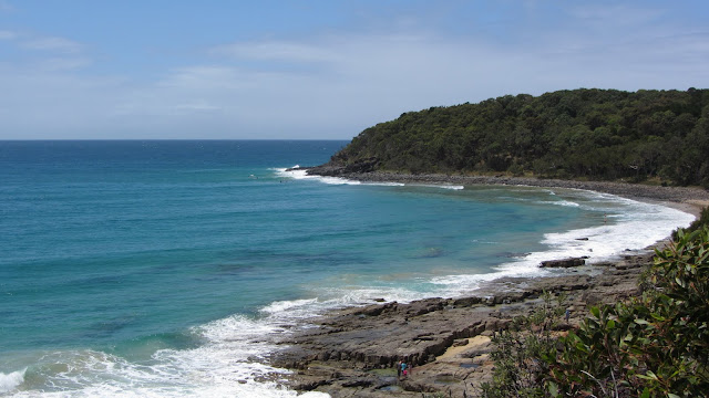 One of the beaches on the headlands coastal trail in Noosa National Park.