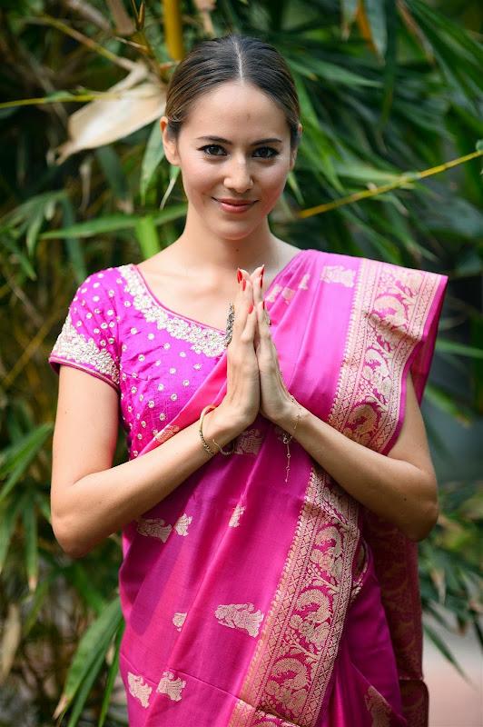 Джессика Мичибата в традиционном платье на Гран-при Индии 2013