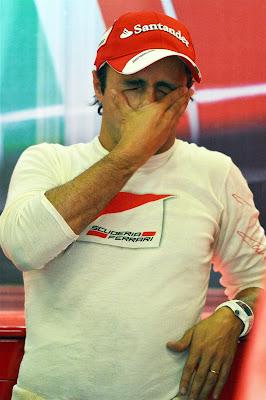 Фелипе Масса фэйспалмит на Гран-при Германии 2013