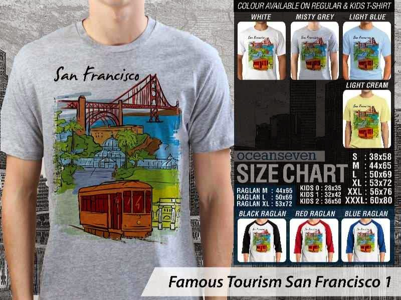 Jual Kaos Wisata San Francisco 1 Amerika distro ocean seven