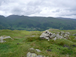 ... more stones here. This is the summit of Lang How.
