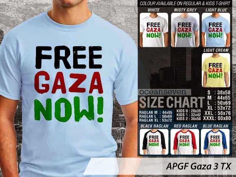Kaos Muslim Islam Gaza 3 distro ocean seven