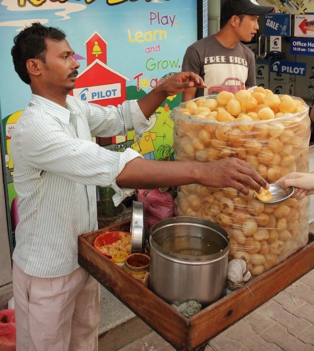 Golgappa street vendor from Kathmandu