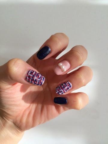 Mais Nail Art Blog Tweed Nail Art