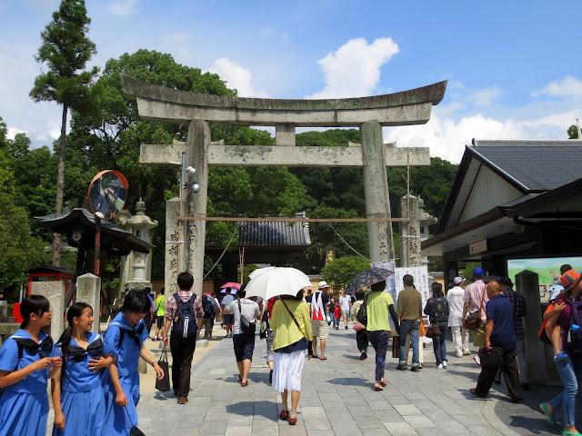 The entrance to the Dazaifu Tenmangu Shrine
