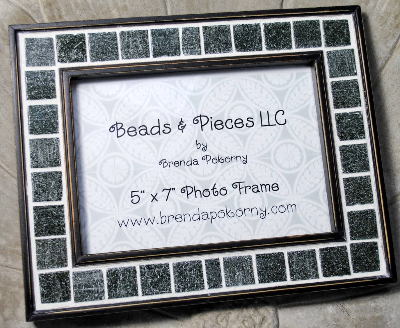 Gray Flannel 5 x 7 Mosaic Photo Frame MOF1385