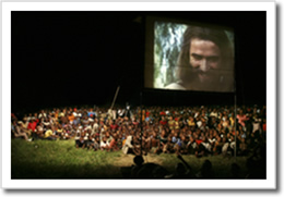 Outdoor film showing