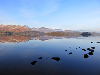A blue view across Derwentwater