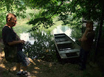 we found a hidden boat in central park!  alas, we couldn't take it for a random float since it was chained to the fence