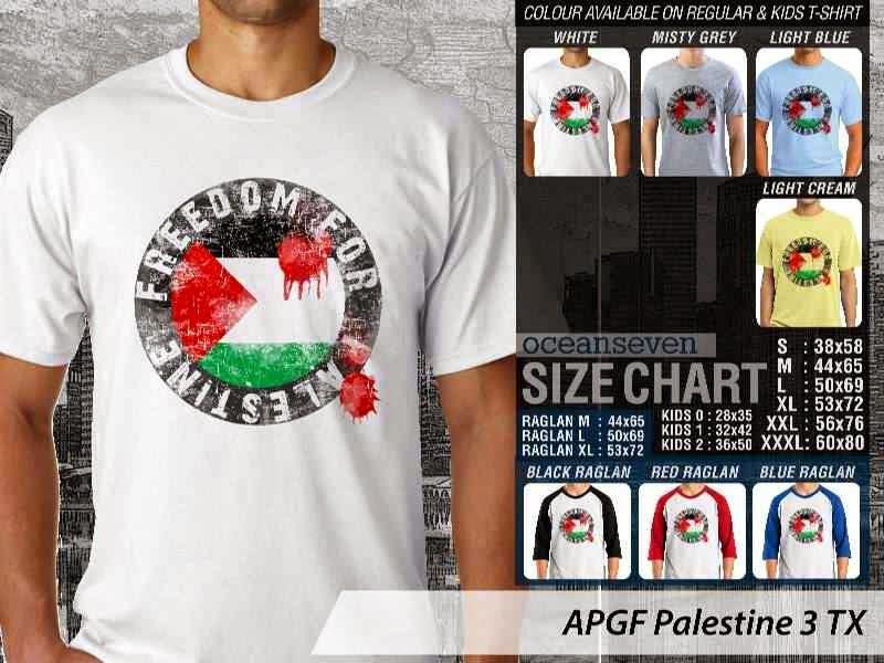 Kaos Muslim Islam Palestine 3 distro ocean seven
