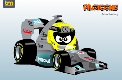 Нико Росберг Mercedes pilotoons 2012