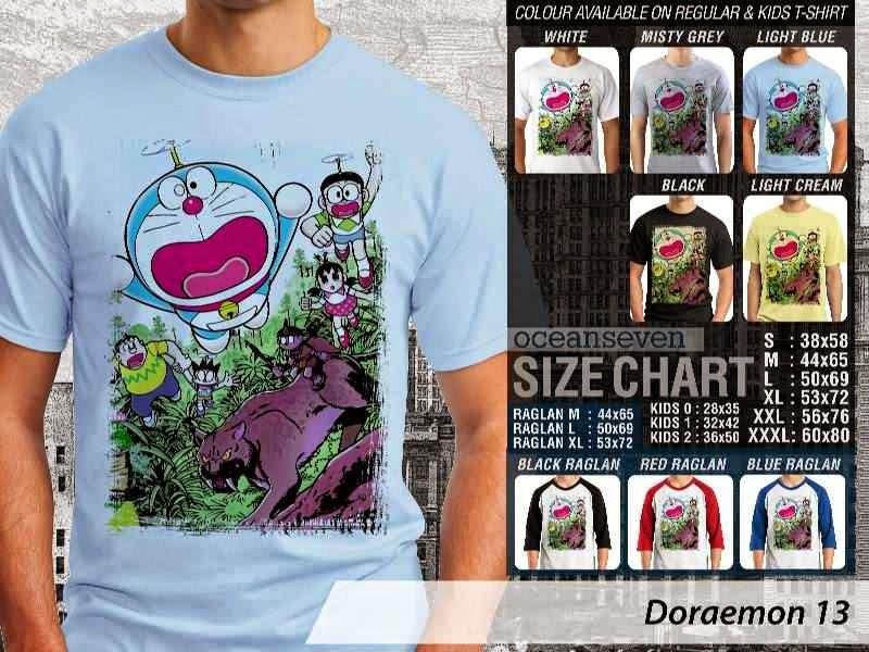 KAOS Doraemon 13 Manga Lucu distro ocean seven