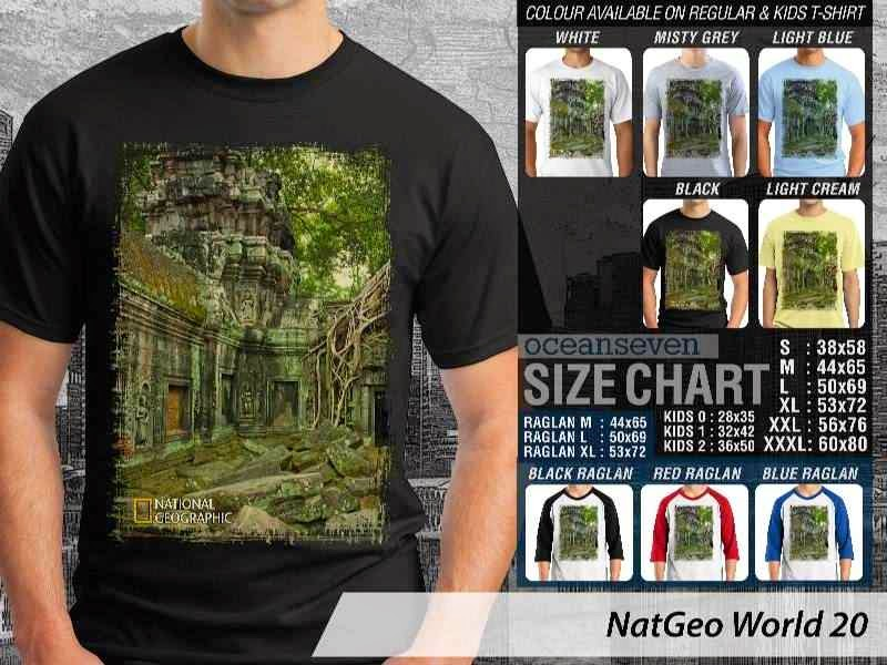 Kaos National Geographic NatGeo World 20 distro ocean seven