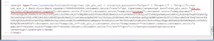 Source script inject ads telkom yang disisipkan pada kode html