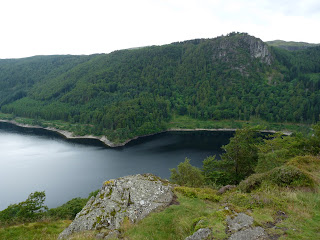 Raven Crag and Thirlmere from Great How.