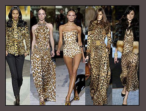 Платье с леопарда