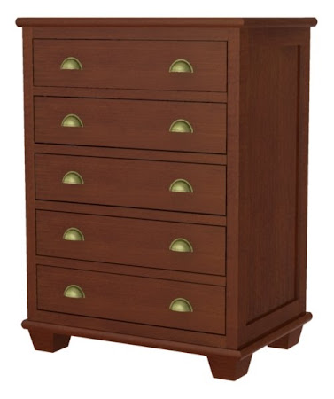 Monrovia Vertical Dresser, Ruby Walnut