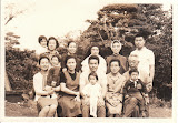 The Toyoda family, probably in 1969. Maria is the baby girl in the middle, on her father's lap (Tony Toyoda), and her mom (Michiko) to the left