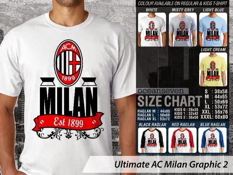 KAOS AC Milan 2 Supporter Bola distro ocean seven