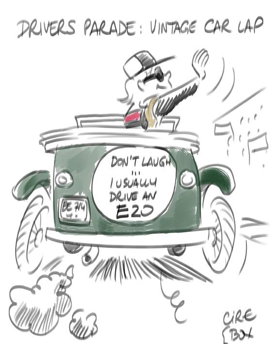 Кими Райкконен на параде пилотов - комикс Cirebox по Гран-при Испании 2012