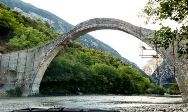 Heritage: Historic Greek bridge washed out by flood waters