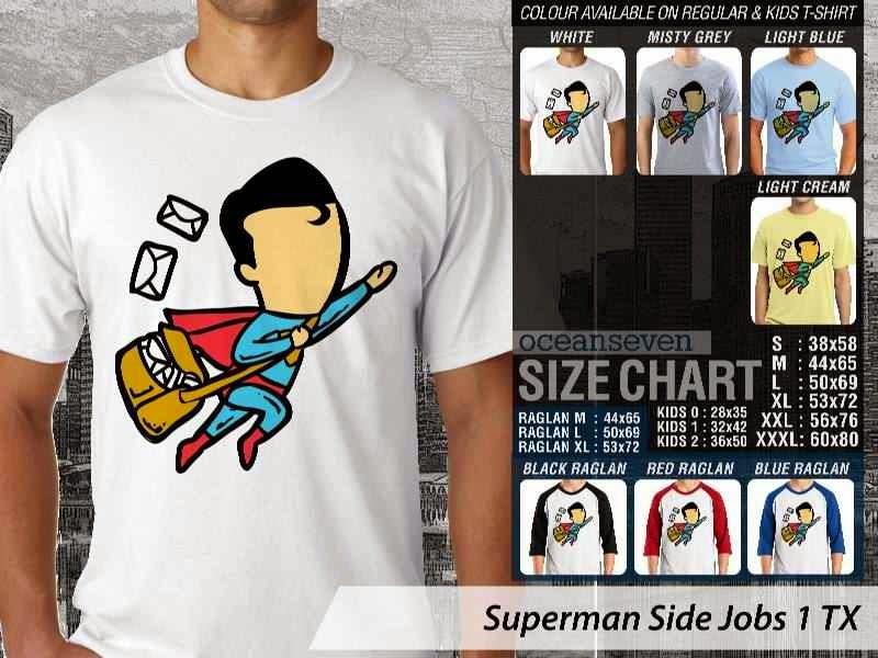 Kaos Superman Side Jobs 1 TX distro ocean seven