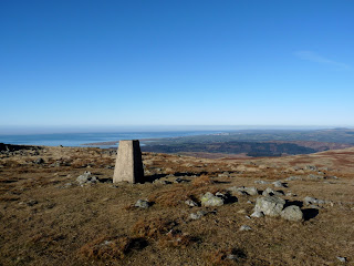 Whitfell Trig Point looking towards Irish Sea