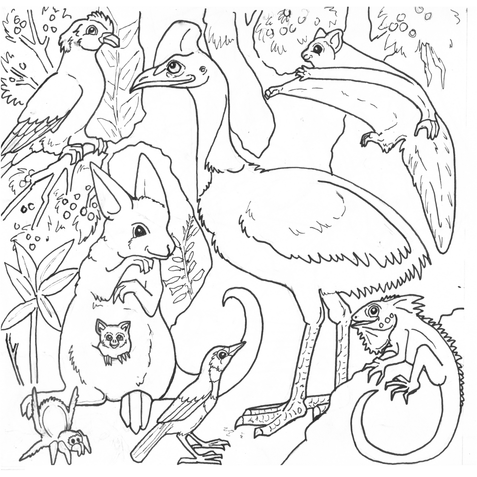 rainforest animal coloring pages - Jungle Animals Online Coloring Pages Page 1 The Color
