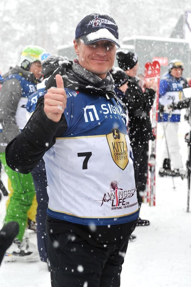 Дэвид Култхард на благотворительной лыжной гонке Kitz Charity Trophy 21 января 2012
