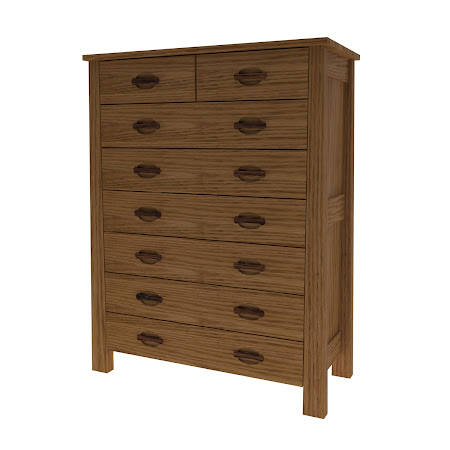 Luxor Vertical Dresser, Medium Oak