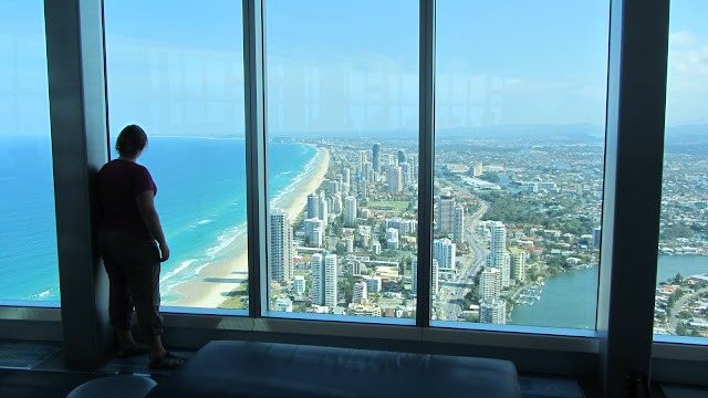 Looking out over the Gold Coast from the Q Deck.
