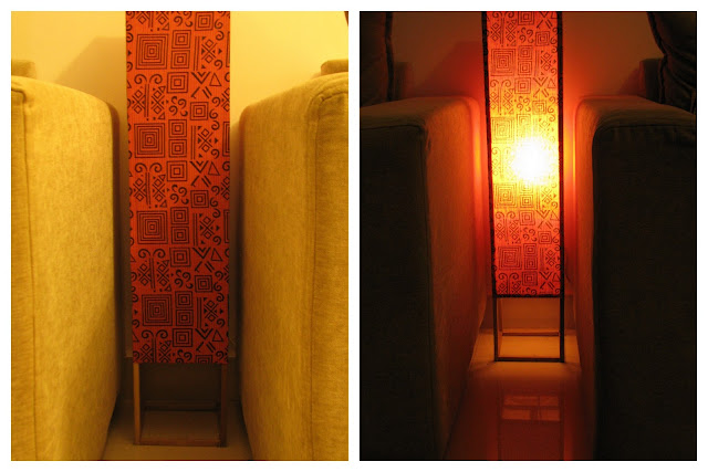 DIY lamp shade or floor lamp using fabric