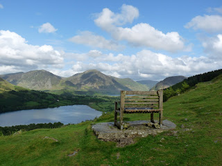 """""""The Seat"""" ... a great view to Loweswater and beyond."""