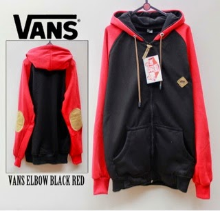 Jaket Vans Black Red
