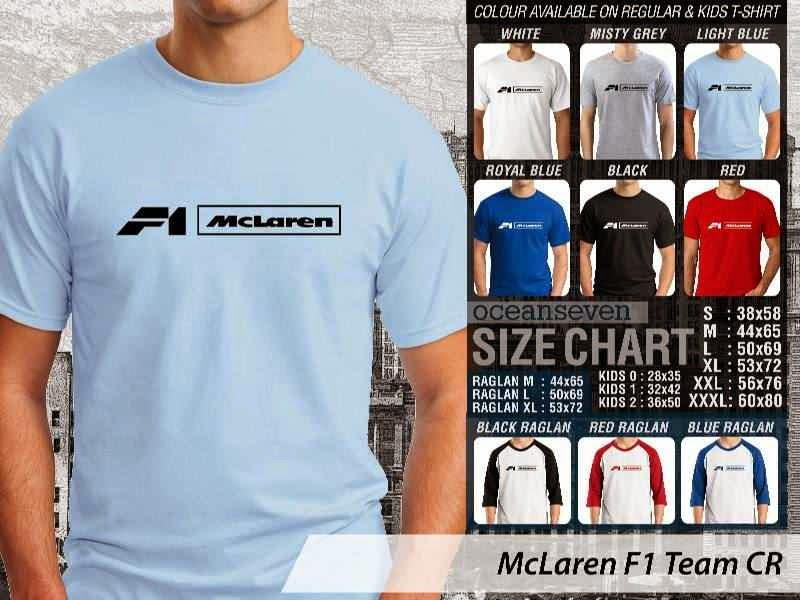 KAOS McLaren F1 Logo Otomotif distro ocean seven