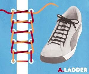 Memasang Tali Sepatu dengan Trik Ladder