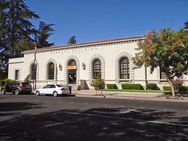 Merced, CA: Federal Building / T. V. Bell Station post office