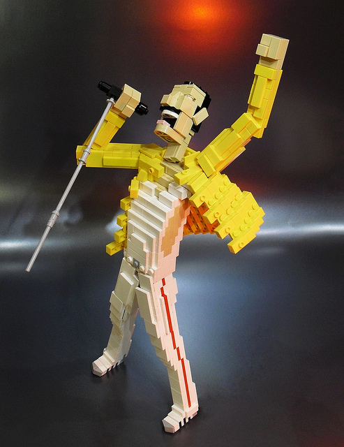 LEGO Version of Freddie Mercury Seen On www.coolpicturegallery.us