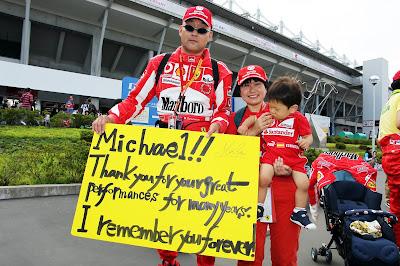 болельщики Михаэля Шумахера и Ferrari на Гран-при Японии 2012