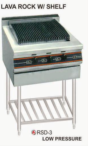 Alat Panggang Gas Batu Lava dengan Kaki (Lava Rock Gas Open Griddle Broiler Shelf Stand) : RSD-3