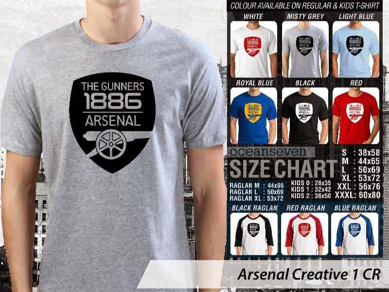 Kaos Bola Arsenal 12 Liga Premier Inggris distro ocean seven