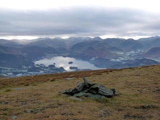 Jenkin Hill Summit towards Derwentwater. It was meant to be a fine day today but this morning was certainly very cloudy. We had no rain though!!!